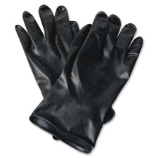 Butyl chemical protection gloves, sz-10, 13mil, 1/pr, bk, sold as 1 pair