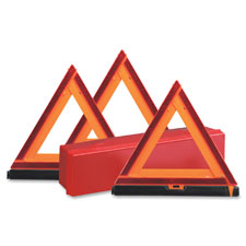 Emergency warning triangle kit, orange/red, sold as 1 each