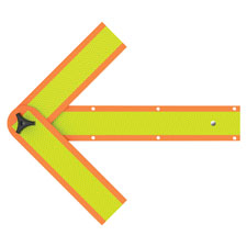 "Safety arrow, 18"", orange, sold as 1 each, 3 each per each"