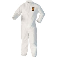 Kleenguard a40 coveralls, 3xl, 25/ct, white, sold as 1 carton, 25 each per carton