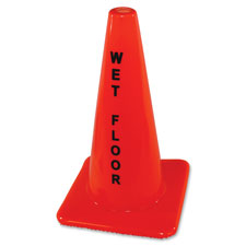 Safety cone sign, wet floor, orange, sold as 1 each, 5 each per each
