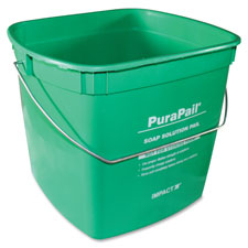Purapail cleaning bucket, 6qt, green, sold as 1 each