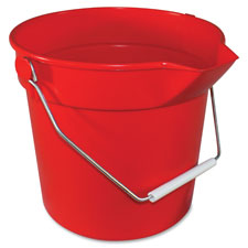 Deluxe hvy-dty bucket, 10qt, red, sold as 1 each