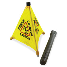 "Pop-up safety cone, 20"", yellow/black, sold as 1 each"