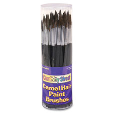 Camel hair brush holder set, 72pcs/st, ast, sold as 1 set