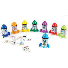 Rhyme/sort rockets activity set, 88pc, multi, sold as 1 set
