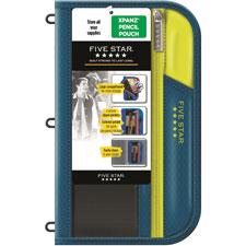 Zipper pencil pouch, expandable pocket, ast, sold as 1 each
