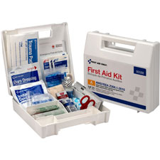 Ansi bulk first aid kit, 25 person, 89 pieces, white, sold as 1 each