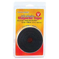 "Magnetic tape, self-adhesive, 1/2""x120"", black, sold as 1 each"