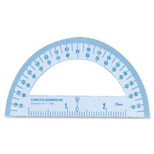 "Metal protractor, 4"", white, sold as 1 box"