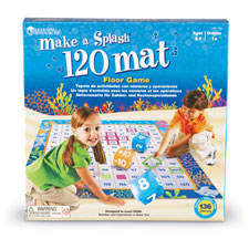 Make a splash floor mat game, 120 pcs, multi, sold as 1 each