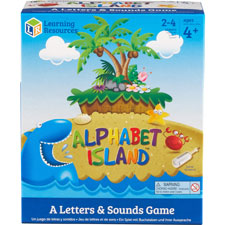 Alphabet island game, ages 4+, ast, sold as 1 each