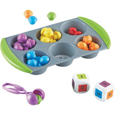 Mini muffin match up set, pre k+, ast, sold as 1 set