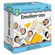 Emotion-oes board game, prk-gr 2, 56pcs, multi, sold as 1 each