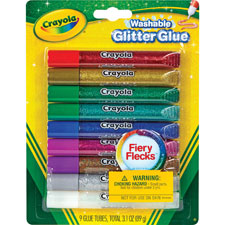 Washable glitter glue, 9 carton, assorted, sold as 1 package, 462 each per package