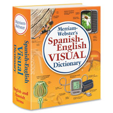Spanish-english visual dictionary, orange, sold as 1 each