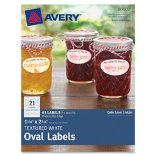 "Textured oval labels 1-1/8""x2-1/4"", 63/pk, we, sold as 1 package"