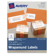 "Textured wraparound labels, 7/17/20""x1-3/4"", 15/pk, we, sold as 1 package"