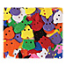 Chenille Kraft 6601 Buttons, Animals Faces, 70 Pcs, Multi, CKC6601, CKC 6601