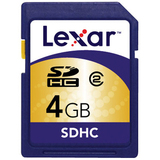 Lexar Media 4GB Secure Digital High Capacity (SDHC) Card