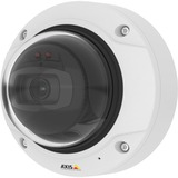 Day and night fixed dome with support for Forensic WDR, Lightfinder and OptimizedIR illumination. Discreet, dust and IK10 vandal-resistant indoor casing. Varifocal 3-9 mm P-Iris lens with remote zoom and focus for installation or monitoring. Multiple, individually configurable H.264 and Motion JPEG streams. 1080p at 30 fps with WDR and Lightfinder and up to 120 fps without. Zipstream for reduced bandwidth and storage. Fence Guard, Motion Guard, Video motion detection, shock detection and active tampering alarm. Two-way audio and audio detection. Supervised inputs, digital outputs for alarm / event handling. Electronic image stabilization. Memory card slot for optional local video storage. Power over Ethernet or 8-28V DC power with redundancy. Midspan and power supply not included. Includes mounting bracket for wall or junction b