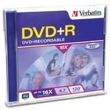 94916 - Verbatim DVD+R 4.7GB 16X with Branded Surface - 1pk Jewel Case
