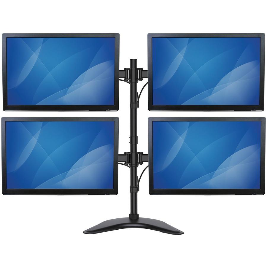 "StarTech.com Quad Monitor Stand - Crossbar - Steel - Monitors up to 27""- Vesa Monitor - Computer Monitor Stand - Monitor Arm"