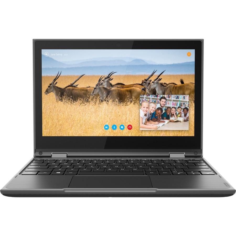 "Lenovo 300e Windows 2nd Gen 81M9007UUS 11.6"" Touchscreen 2 in 1 Notebook - HD - 1366 x 768 - Intel Celeron N4120 Quad-core (4 Core) 1.10 GHz - 4 GB RAM - 128 GB SSD - Gray"