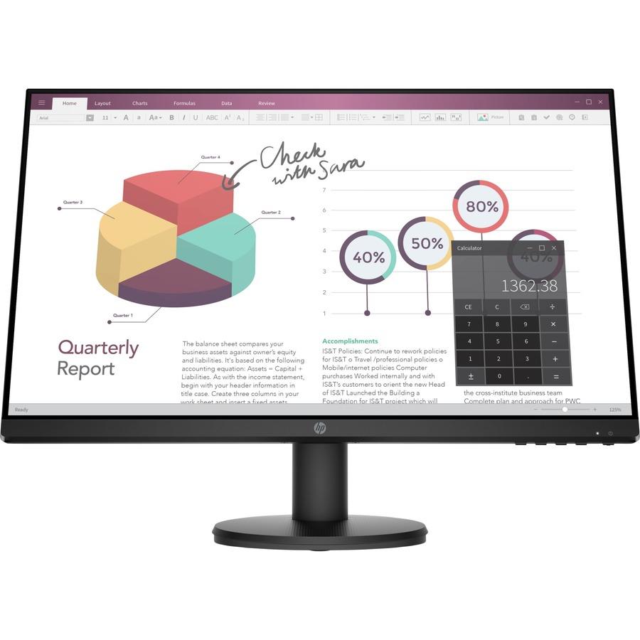 "HP P24v G4 23.8"" Full HD LED LCD Monitor - 16:9 - Black"