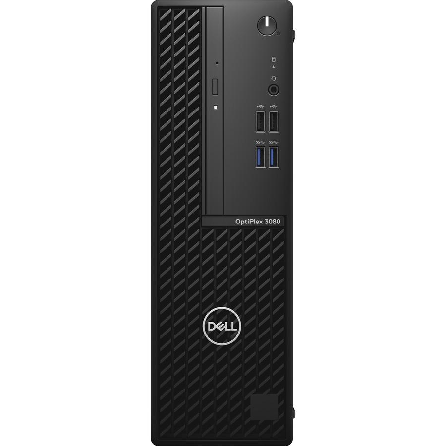 Dell OptiPlex 3000 3080 Desktop Computer - Intel Core i3 10th Gen i3-10105 - 8 GB RAM DDR4 SDRAM - 256 GB NVMe M.2 PCI Express M.2 SSD - Small Form Factor - Black
