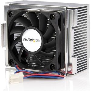 StarTech.com 85x70x50mm Socket 478 CPU Cooler Fan with Heatsink & TX3 Connector - 478 P4 Ball Bearing CPU Cooler Fan with Heatsink - Processor cooler - ( Socket 423, Socket 478 ) - aluminum