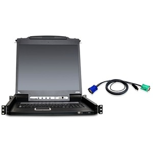 """Aten CL5708MUKIT 17"""" Rackmount LCD with KVM Switch-TAA Compliant"""