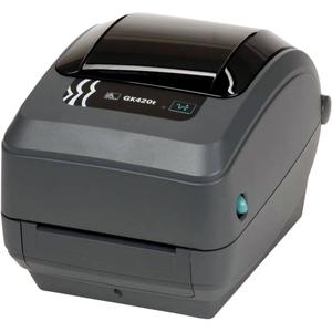 Zebra GK420t Desktop Direct Thermal/Thermal Transfer Printer - Monochrome - Label Print - Ethernet - USB