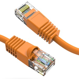 Axiom 1FT CAT6 550mhz Patch Cable Molded Boot (Orange)