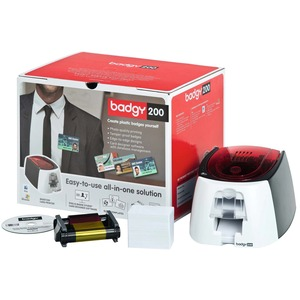 Badgy200 All-In-On ID Card Printing Solution by Evolis with Badge Studio Software - Print Professional Custom ID's On Demand