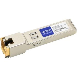 AddOn Cisco GLC-T-10G Compatible TAA Compliant 100/1000/10000Base-TX SFP+ Transceiver (Copper, 30m, RJ-45)