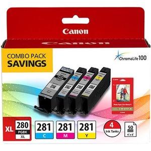 Canon Ink Cartridge/Paper Kit - Combo Pack - Black, Cyan, Magenta, Yellow