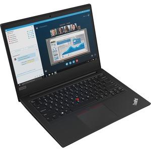 "Lenovo ThinkPad E490 20N8006TUS 14"" Notebook - 1366 x 768 - Intel Core i3 (8th Gen) i3-8145U Dual-core (2 Core) 2.10 GHz - 4 GB RAM - 500 GB HDD - Black"