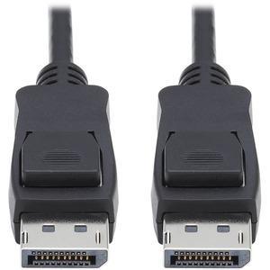 Tripp Lite DisplayPort 1.4 Cable w Latching Connectors 8K HDR M/M Black 10ft