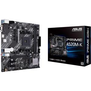 Asus Prime A520M-K Desktop Motherboard - AMD Chipset - Socket AM4 - Micro ATX