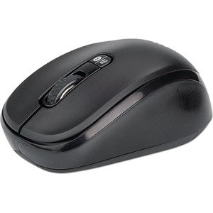 Manhattan Dual-Mode Mouse, Bluetooth 4.0 and 2.4 GHz Wireless, 800/1200/1600 dpi, Three Buttons With Scroll Wheel, Black, Three Year Warranty, Box