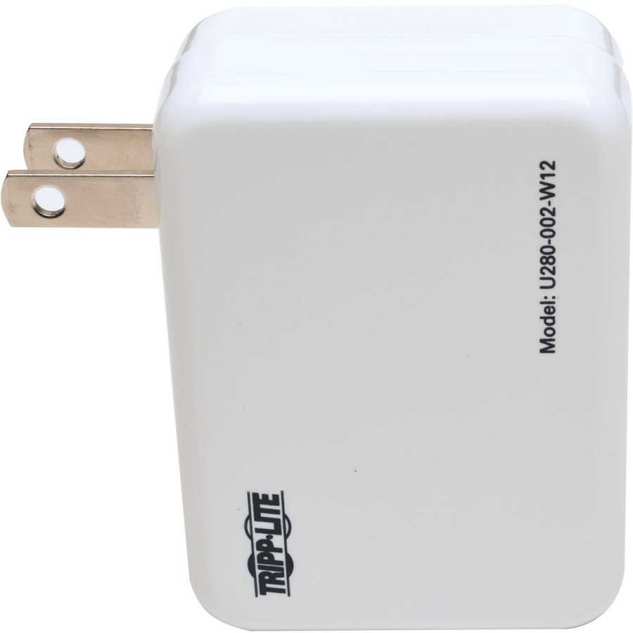 Tripp Lite Dual Port USB Tablet Phone Wall Travel Charger 5V / 1.0/2.4A