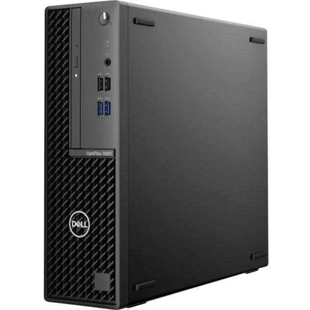 Dell OptiPlex 3000 3080 Desktop Computer - Intel Core i5 10th Gen i5-10505 Hexa-core (6 Core) 3.20 GHz - 8 GB RAM DDR4 SDRAM - 256 GB NVMe M.2 PCI Express M.2 SSD - Small Form Factor - Black