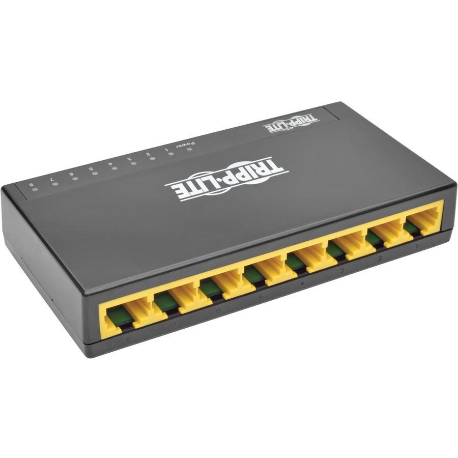 Tripp Lite 8-Port Gigabit Ethernet Switch Desktop RJ45 Unmanaged Switch 10/100/1000 Mbps