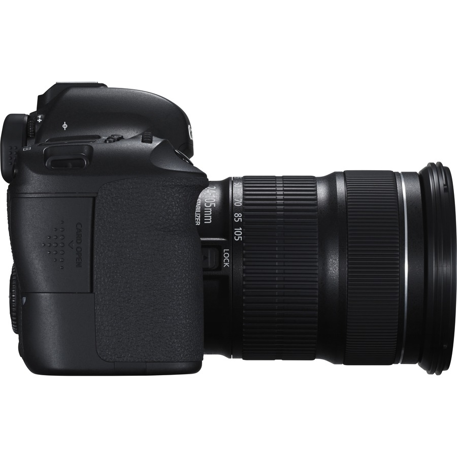 Canon EOS 6D 20.2 Megapixel Digital SLR Camera with Lens - 24 mm - 105 mm - Black