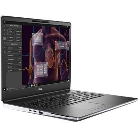 """Dell Precision 7000 7750 17.3"""" Mobile Workstation - Full HD - 1920 x 1080 - Intel Core i7 (10th Gen) i7-10750H Hexa-core (6 Core) 2.60 GHz - 16 GB RAM - 512 GB SSD - Titan Gray"""