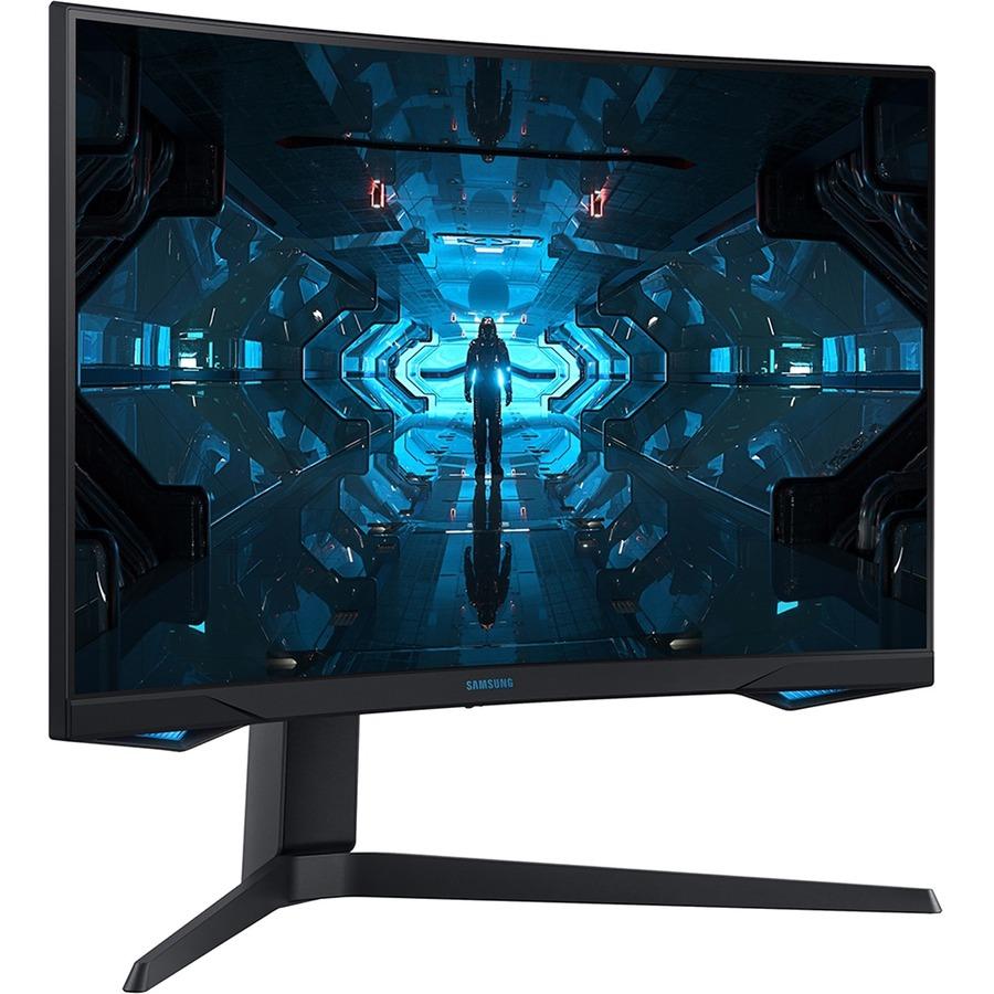 """Samsung Odyssey G7 C27G75TQSN 26.9"""" WQHD Curved Screen Quantum Dot LED Gaming LCD Monitor - 16:9 - Black"""