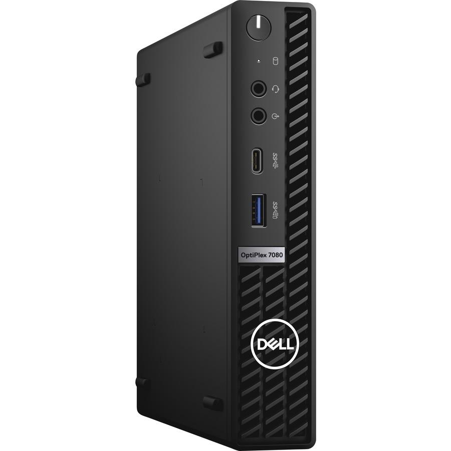 Dell OptiPlex 7000 7080 Desktop Computer - Intel Core i7 10th Gen i7-10700 Octa-core (8 Core) 2.90 GHz - 16 GB RAM DDR4 SDRAM - 256 GB SSD - Micro PC - Black