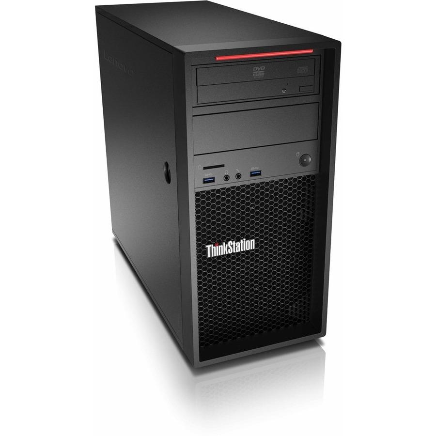 Lenovo ThinkStation P320 30BH002RUS Workstation - 1 x Intel Core i7 Quad-core (4 Core) i7-6700 6th Gen 3.40 GHz - 8 GB DDR4 SDRAM RAM - 1 TB HDD - Tower - Raven Black