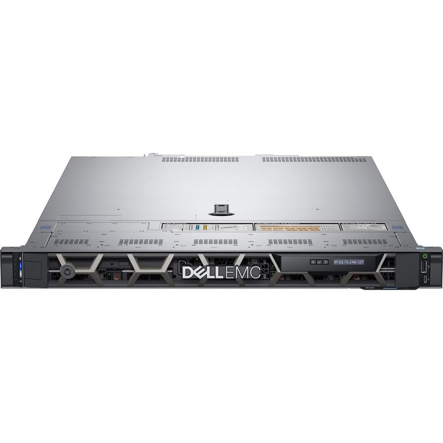 Dell EMC PowerEdge R440 1U Rack Server - Intel Xeon Silver 4208 2.10 GHz - 16 GB RAM - 480 GB SSD - (1 x 480GB) SSD Configuration - 12Gb/s SAS Controller - 3 Year ProSupport